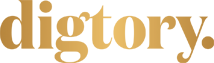 Digtory logotyp guld